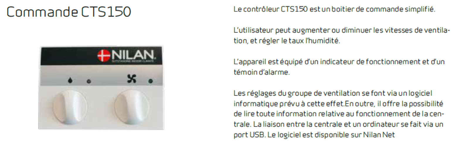 commande cts 150